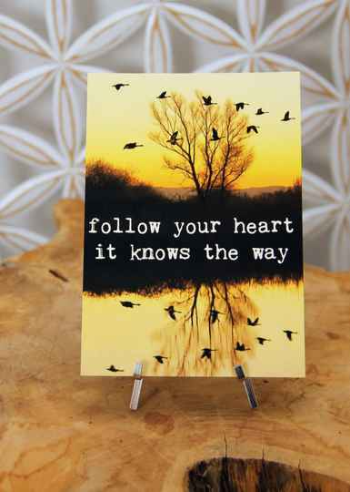 "Postkaart ""Follow your heart ..."""