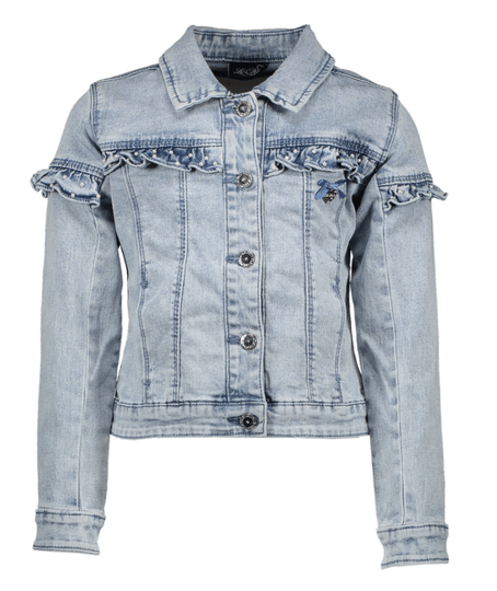 Le Chic Denim Jacket Ruffle