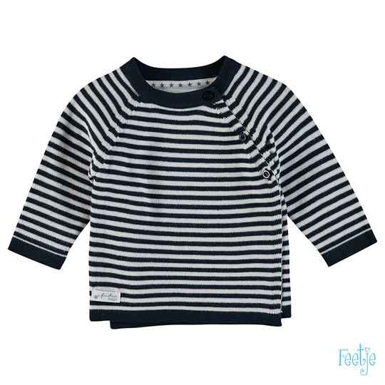 Feetje Sweater raglan streep - First Knit