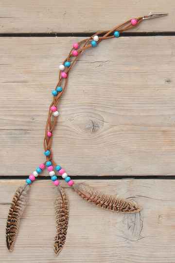Braided Real Feather manebead