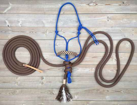 BASIC Natural Hackamore (touwhalster - touwteugel - leadrope)