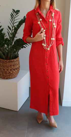 SCAPA DRESS TOPOS LONG RED