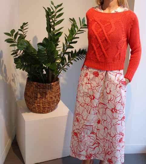 SCAPA PULL LILY ROSE RED