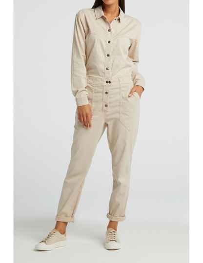 YAYA woven jumpsuit with worker pockets 124128-25403