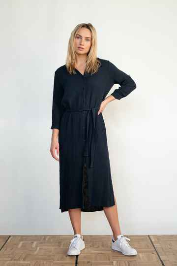 PENN & INK DRESS (S21T532) NAVY 25273