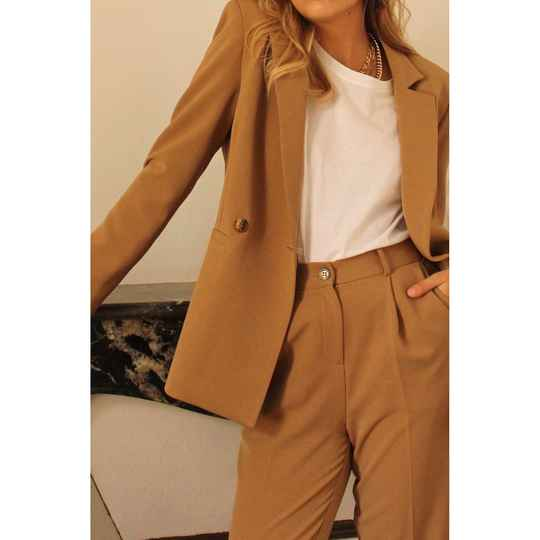 Veste Tailleur Camel Pretty Woman