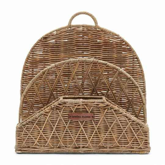 RM - Rustic rattan organise your desk basket