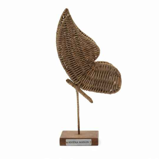 RM - Rustic rattan butterfly statue
