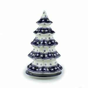 Bunzlau Blue Star Tea light Tree 25 cm