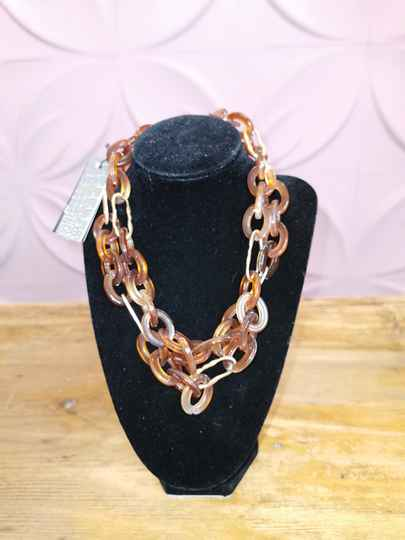 Ketting Bijoux just a touch bruin