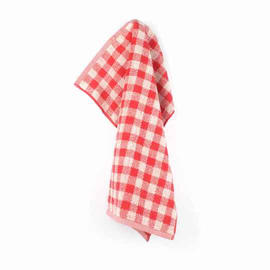 Bunzlau Castle  Kitchen Towel Check Red 3819