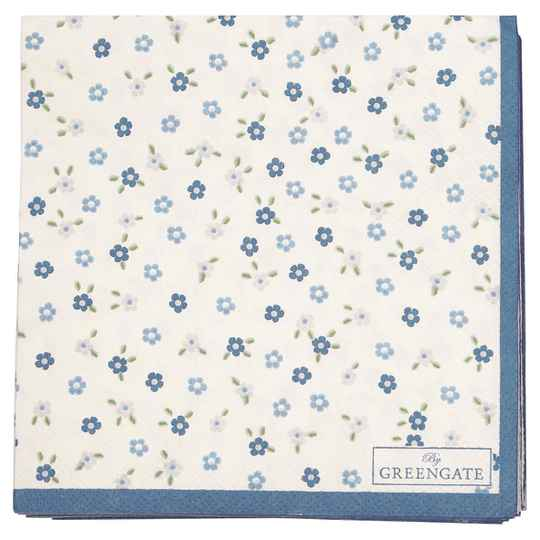 GreenGate  Napkin Ellise white small 20pcs    PAPNAPSESE0112