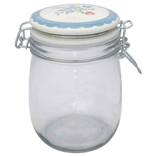 GreenGate  Storage jar Henrietta pale blue 0,75L  GLASTO075LHET2906