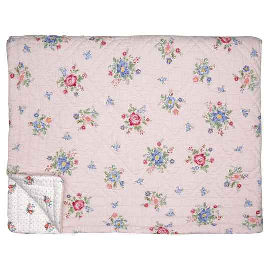 GreenGate Bed cover Roberta pale pink 100x140cm    QUIBED100ROB1902