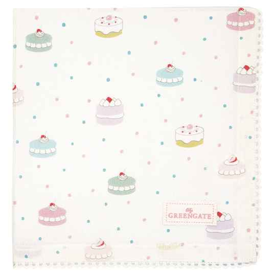 GreenGate Napkin with lace Madelyn white    COTNAPWLMDL0108