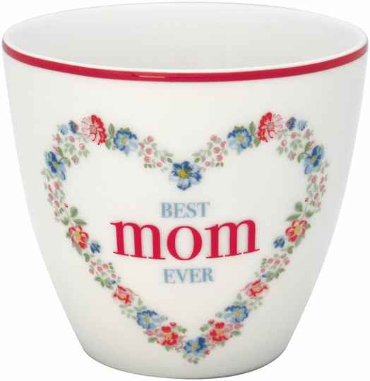 GreenGate Latte Cup Mom White - Best Mom Ever - Limited Edition  STWLATMOM0106