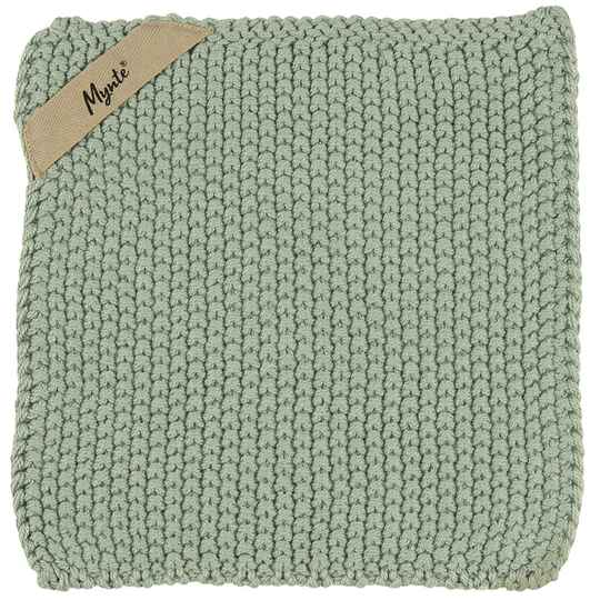 IB-Laursen  Pot holder Mynte dusty green knitted   6350-81