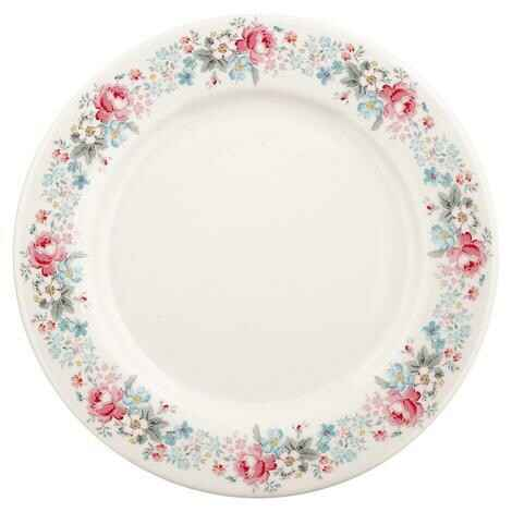 GreenGate Dinner Plate Marie Pale Grey 25 cm