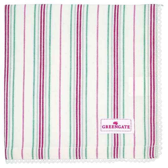 GreenGate Cloth Napkin with Lace Betsy White