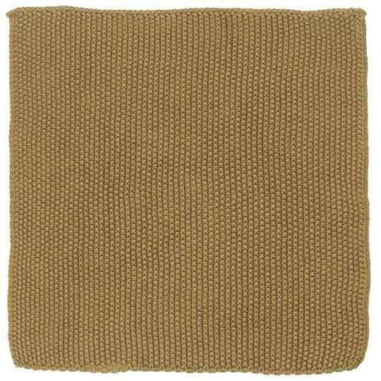 IB-Laursen Dish cloth Mynte Mustard knitted  6351-03