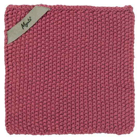 IB-Laursen Pot holder Mynte Blackberry Parfait knitted  6350-65