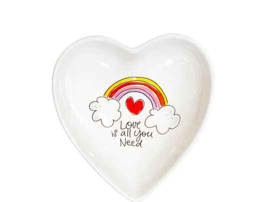 Blond Amsterdam HEART BOWL 16,5 CM LOVE IS ALL YOU NEED  200926