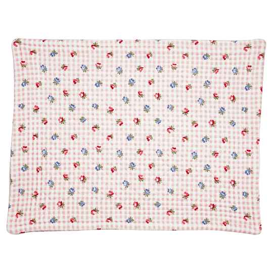 GreenGate  Placemat Viola check pale pink Quilted  QUIPLA35VCH1906