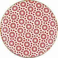 GreenGate Plate 20 cm Kelly Red with Gold