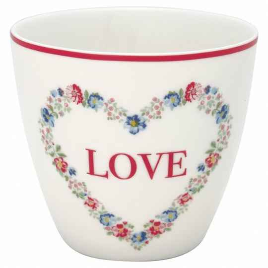 GREENGATE LATTE CUP  HEART LOVE WHITE LIMITED EDITION STWLATHLO0106