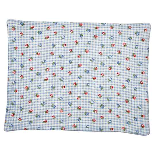 GreenGate  Placemat Viola check pale blue Quilted  QUIPLA35VCH2906