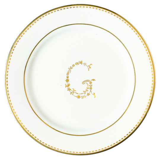 GreenGate Small Plate G Gold 15 cm