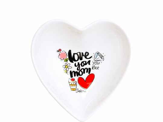 Blond Amsterdam Heart bowl 16.5 cm Love you Mom  200660