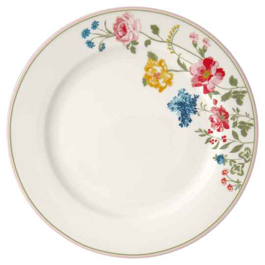 GreenGate  Dinner plate Thilde white  25,3 cm   STWDINTHL0106