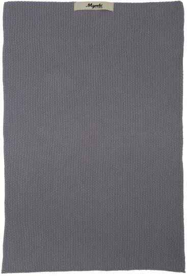 IB-Laursen Towel Mynte dark grey knitted  6352-16