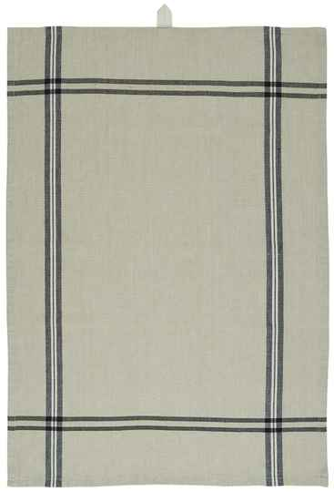 IB-LaursenTea towel organic beige w/black stripes  66018-24