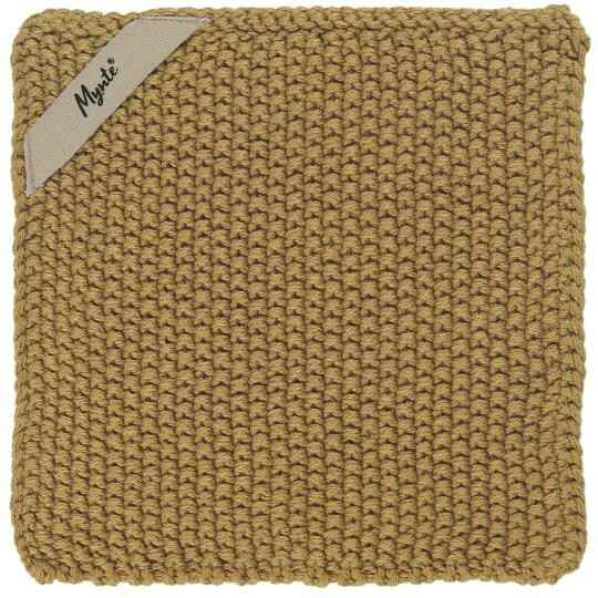 IB-Laursen Pot holder Mynte Mustard knitted  6350-03