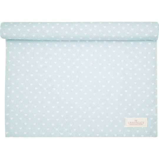 GreenGate Table Runner Penny Pale Blue 45 x 140 cm   COTTAR140PNY2904