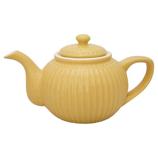 GreenGate  Teapot Alice honey mustard   STWTEPAALI4004
