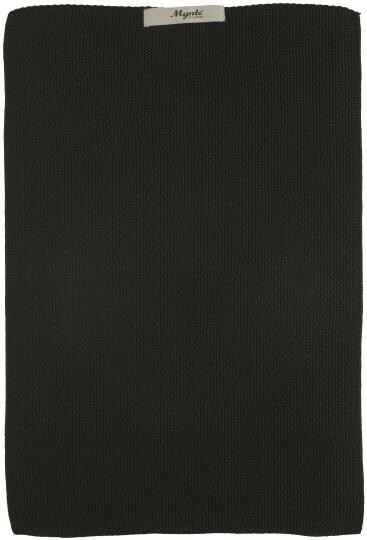 IB-Laursen  Towel  Pure Black knitted  6352-24