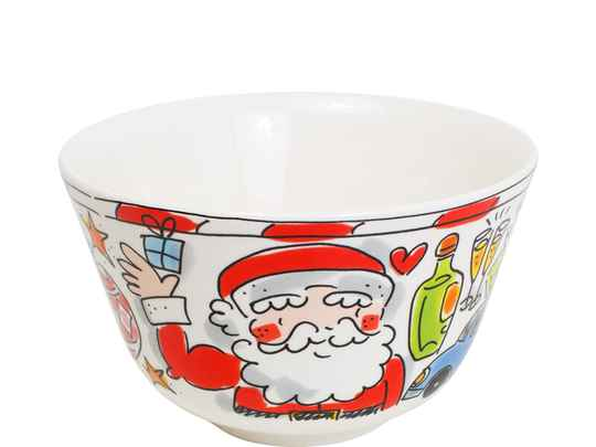 Blond Amsterdam christmas bowl I love Santa 14 cm 200532
