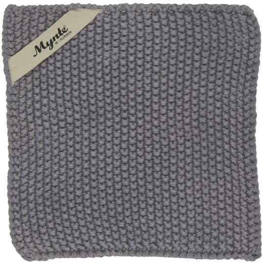 IB-Laursen Pot holder Mynte dark grey knitted  6350-16