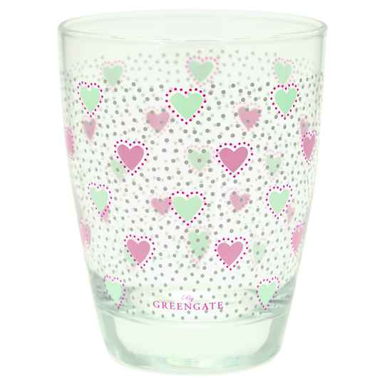 GreenGate Water Glass Penny White