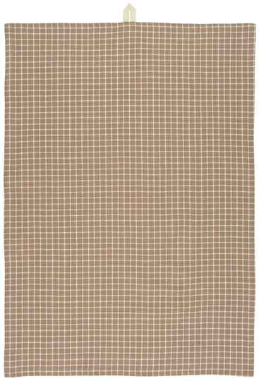 IB-Laursen  Tea towel faded rose w/check pattern    66033-37