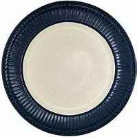 GreenGate Plate Alice Dark Blue 23.5 cm
