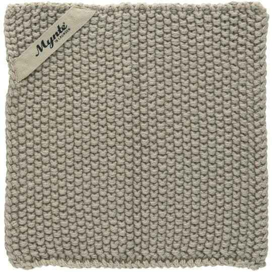 IB-Laursen  Pot holder Mynte sand knitted 6350-35