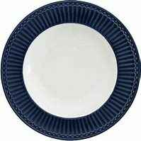 GreenGate Deep Plate Alice Dark Blue 21.5 cm
