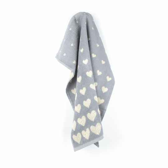 Bunzlau Castle  Kitchen Towel Hearts Grey 5319