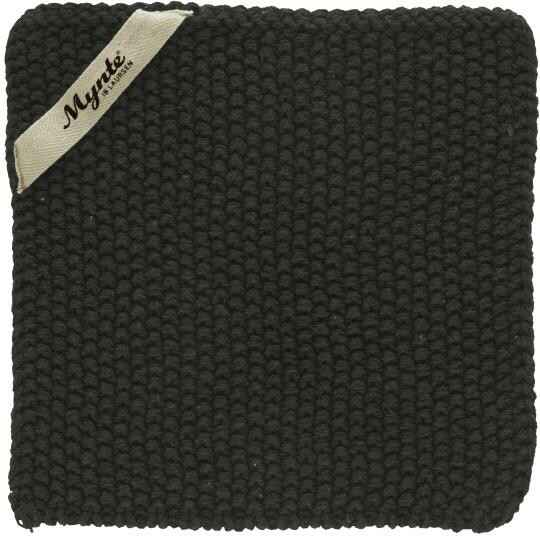 IB-Laursen Pot holder Pure Black  knitted  6350-01