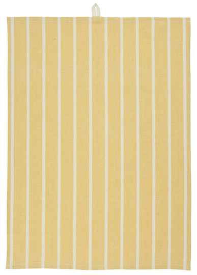 IB-Laursen Tea towel yellow w/stripes  66005-05