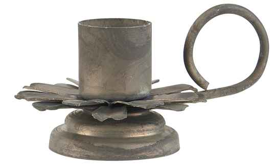 IB-Laursen Candle holder f/dinner candle flower w/handle  57059-18